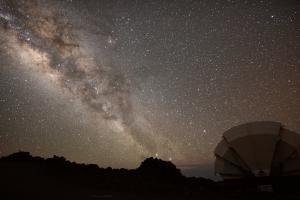Milky Way galaxy as seen from the Faulkes Telescope North on Haleakalā